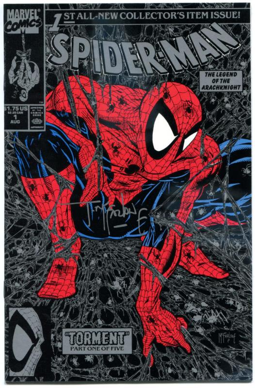 SPIDER-MAN #1, NM+, Signed Todd McFarlane, 1990, Black Silver, more in store