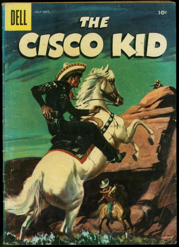 The Cisco Kid 32 1956 Dell Western Comic Painted Cover VG