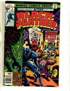Black Panther # 3 FN/VF Marvel Comic Book Jack Kirby Wakanda Avengers WS9