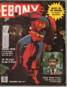 Ebony Magazine 12/1981--NFL Cheerleaders-Teddy Pendergrass-VG