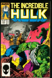 INCREDIBLE HULK #332-THIRD MCFARLANE ISSUE VF/NM