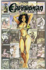 CAVEWOMAN COVER GALLERY #1, NM, Limited Gold Foil, Budd Root, 2002, COA