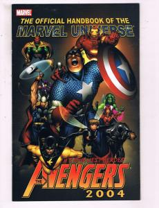 The Official Handbook Of The Marvel Universe Avengers VF Marvel Comic Book DE14