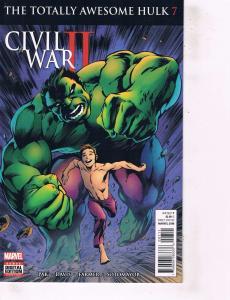 Lot Of 2 Comic Books Marvel Civil War II #1 and #7 Thor Ironman ON9