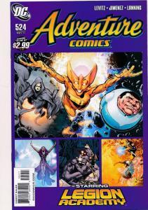 DC Adventure Comics #524, Legion Academy ~ DC Comics 2011 ~ NM (HX545)