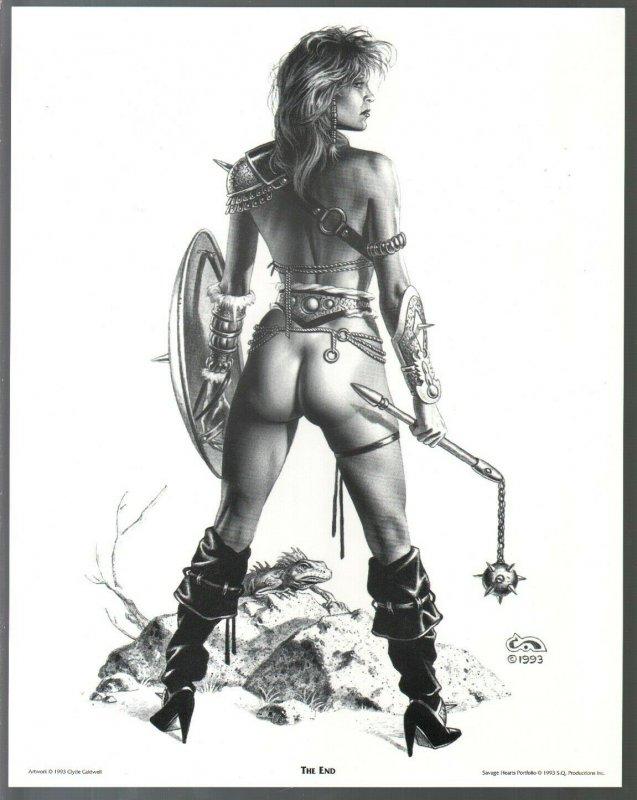Savage Hearts Portfolio by Clyde Caldwell-7 Good Girl Art prints-VF