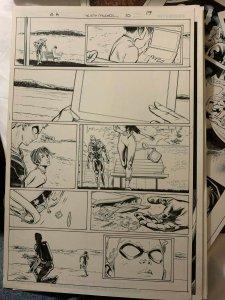 Green Arrow 10  Rebirth page 19 Original art  Steve Kurth//Wayne Faucher