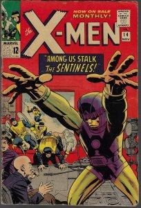 X-men #14 (Marvel, 1965) VG/FN - KEY 1st Sentinels