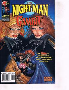 Lot Of 2 Nightman Gambit Malibu Comic Books #2 3 BH50