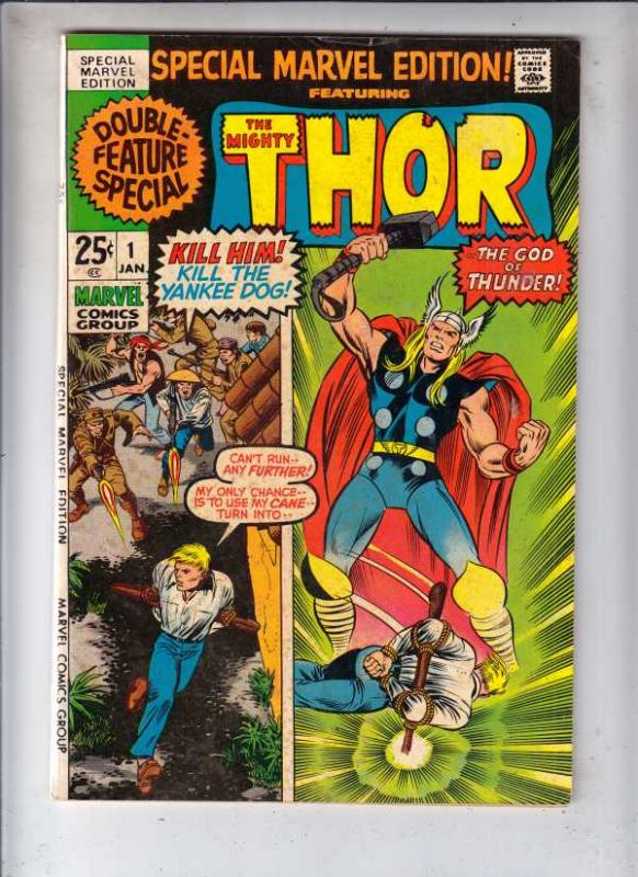 Thor, Special Marvel Edition #1 (Jan-71) FN+ Mid-High-Grade Thor, Odin