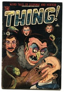 The Thing! #7 1953-Injury to eye cover-Charlton Pre-code Horror