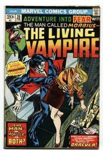 Fear #20 1973 comic book 1st solo Morbius Marvel