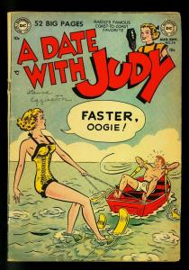 Date with Judy #24 1951- water skiing cover- DC  Humor- VG