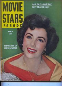 Movie Stars Parade-Liz Taylor-Farley Granger-Peter Lawford-Jimmy Stewart -Mar-19