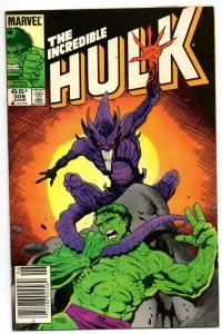 HULK #308, VF+, Incredible, Bruce Banner, Mignola, 1968 1985, Marvel, UPC