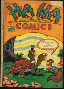 HA HA COMICS #22-FUNNY ANIMAL-1945 G