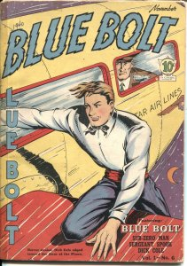 Blue Bolt #6 1940-Joe Simon art--Sub Zero Man-PHANTOM SUB-SUPER HORSE-RARE-Golde