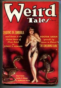 Weird Tales November 1935- Brundage cover- DOCTOR SATAN-Pulp Magazine