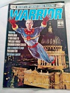 WARRIOR (BRITAIN'S TOP FANTASY COMIC MAGAZINE) (1982 Series) #16 FN