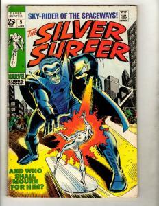 Silver Surfer # 5 FN- Marvel Comic Book Avengers Fantastic Four Galactus GK1