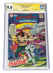 ADVENTURE COMICS #372 CGC 9.0 SIGNED NEAL ADAMS SINGLE HIGHEST GRADED SUPERBOY