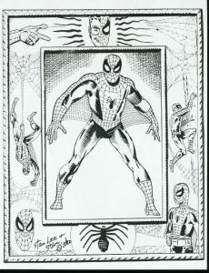 AMAZING SPIDER-MAN PIN-UP PAGE PRODUCTION ART-GIVEAWAY