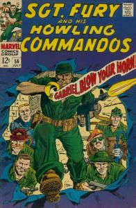 Sgt. Fury #56 VG; Marvel | low grade comic - save on shipping - details inside