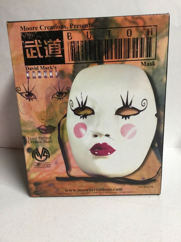 Kabuki Butoh Mask Hand Painted Ceramic Mask Moore Creations