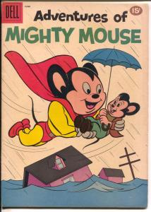 Adventures of Mighty Mouse #150 1961-Dell-flood cover-Heckle & Jeckle-FN