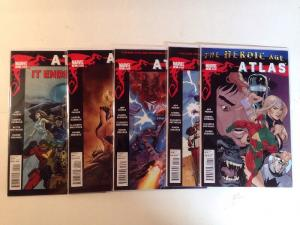 Atlas 1-5 Complete Near Mint Lot Set Run Heroic Age