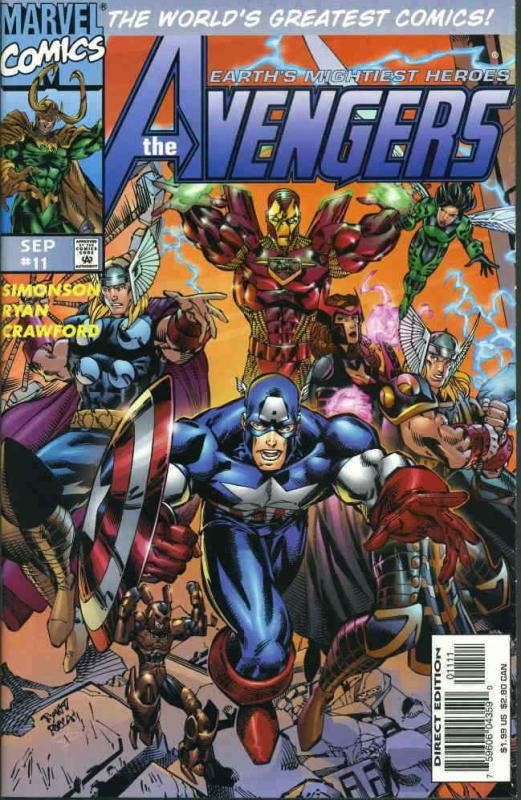 Avengers (Vol. 2) #11 VF/NM; Marvel | save on shipping - details inside