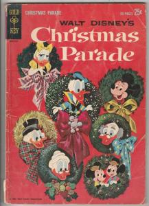 Walt Disney's Christmas Parade #1 (Jan-62) GD- Affordable-Grade Scrooge McDuc...