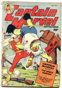 Captain Marvel Adventures #107 1950-Canadian edition- Golden Age Fawcett G/VG