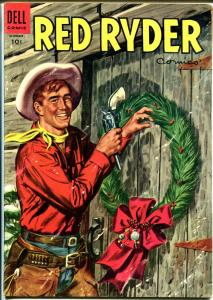 Red Ryder #137 1954-Dell-painted Christmas cover-Fred Harmon-FN+