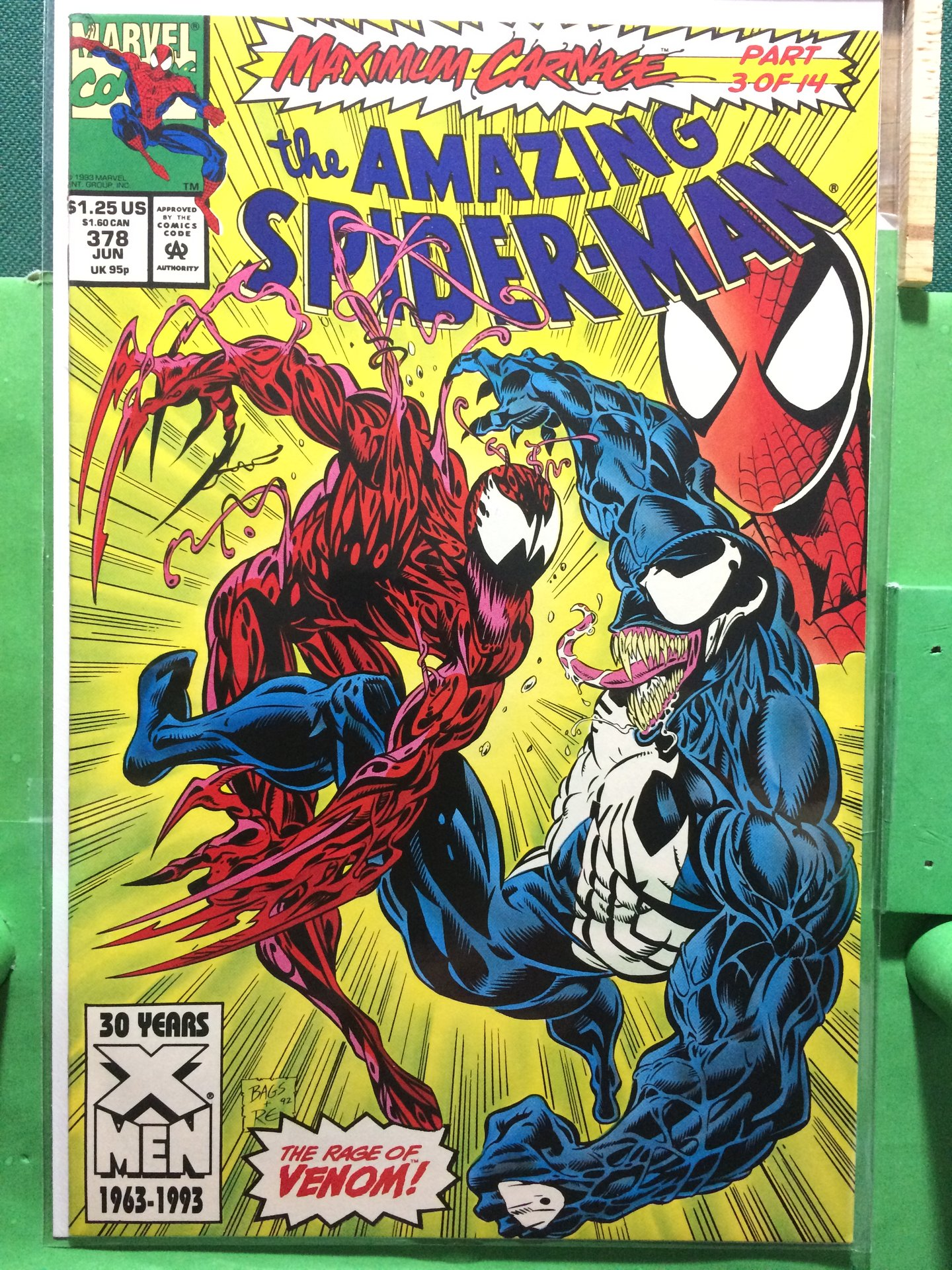 1st Series #3 1993 FN Stock Image Spider-Man 2099