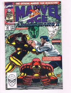 Marvel Age # 92 VF/NM Comic Book Iron Man Hulk Thor Avengers Captain America J22