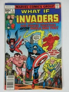 WHAT IF 4 VERY FINE August 1977 The Invaders! COMICS BOOK