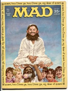 Mad Magazine #121 1968- BEATLES with guru cover VG-