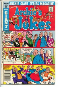 Archie Giant Series #495 1980-Archie's Jokes-Betty and Veronica-FN