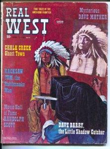 Real West 4/1974-Charlton-camera cover-Randolph Scott Western Movie HOF-pulp ...