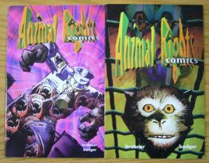 Animal Rights Comics #1-2 VF/NM complete series - oliver stone - PETA - set