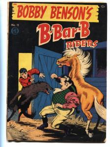 BOBBY BENSON'S B-BAR-B RIDERS #11 1951-FRANK FRAZETTA  FN