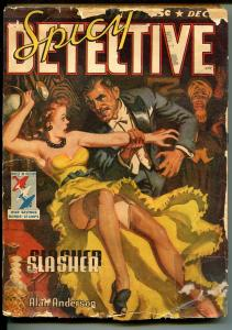 SPICY DETECTIVE 12/1942-BELLEM PULP STORY-HOT BABE COVER-SALLY THE SLEUTH-good