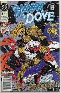 Hawk and Dove (vol. 2, 1989) # 9 VG Kesel, Guler, Copperhead