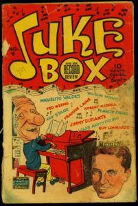Juke Box Comics #4 1948- Jimmy Durante- Famous Funnies POOR