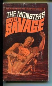 DOC SAVAGE-THE MONSTERS-#7-ROBESON-G-COVER JAMES BAMA- G