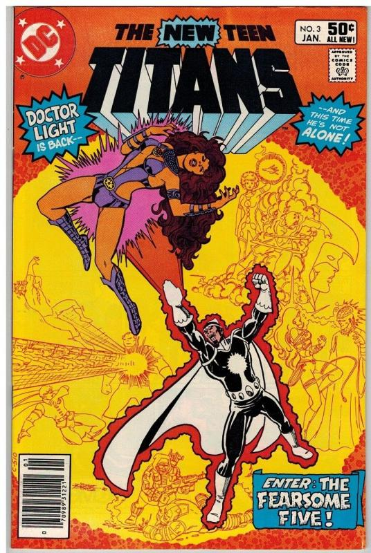 TEEN TITANS (1980) 3 FN+ Jan. 1981 COMICS BOOK