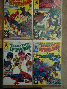 Marvel Comics Complete Set of Deadly Foes of Spider-Man #1-4