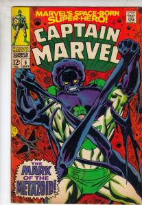 Captain Marvel #5 (Sep-68) VF/NM- High-Grade Captain Marvel