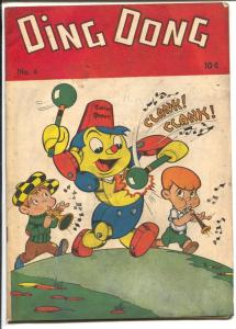 Ding Dong #4 1947-ME-Robert Robot cover & story-spanking panel-FN-